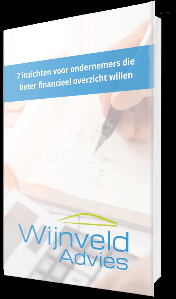 Ebook cover Wijnveld Advies - 7 inzichten voor ondernemers die beter financieel inzicht willen